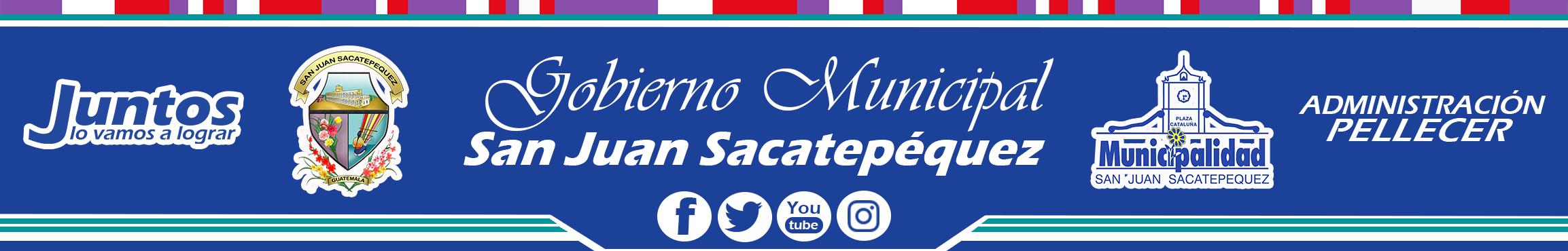 "Municipalidad de San Juan Sacatepéquez, 7a. Calle ""A"" y 6a. Ave. Zona 1, Plaza Cataluña San Juan Sacatepequez, Guatemala. C.A.      PBX: 7962-5151"