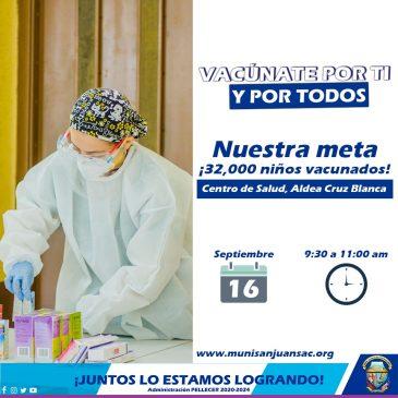 Jornada de vacunación en el Municipio de San Juan Sacatepéquez.